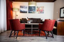 Bardøla Hotel / Familiensuite mit Etagenbett und Balkon